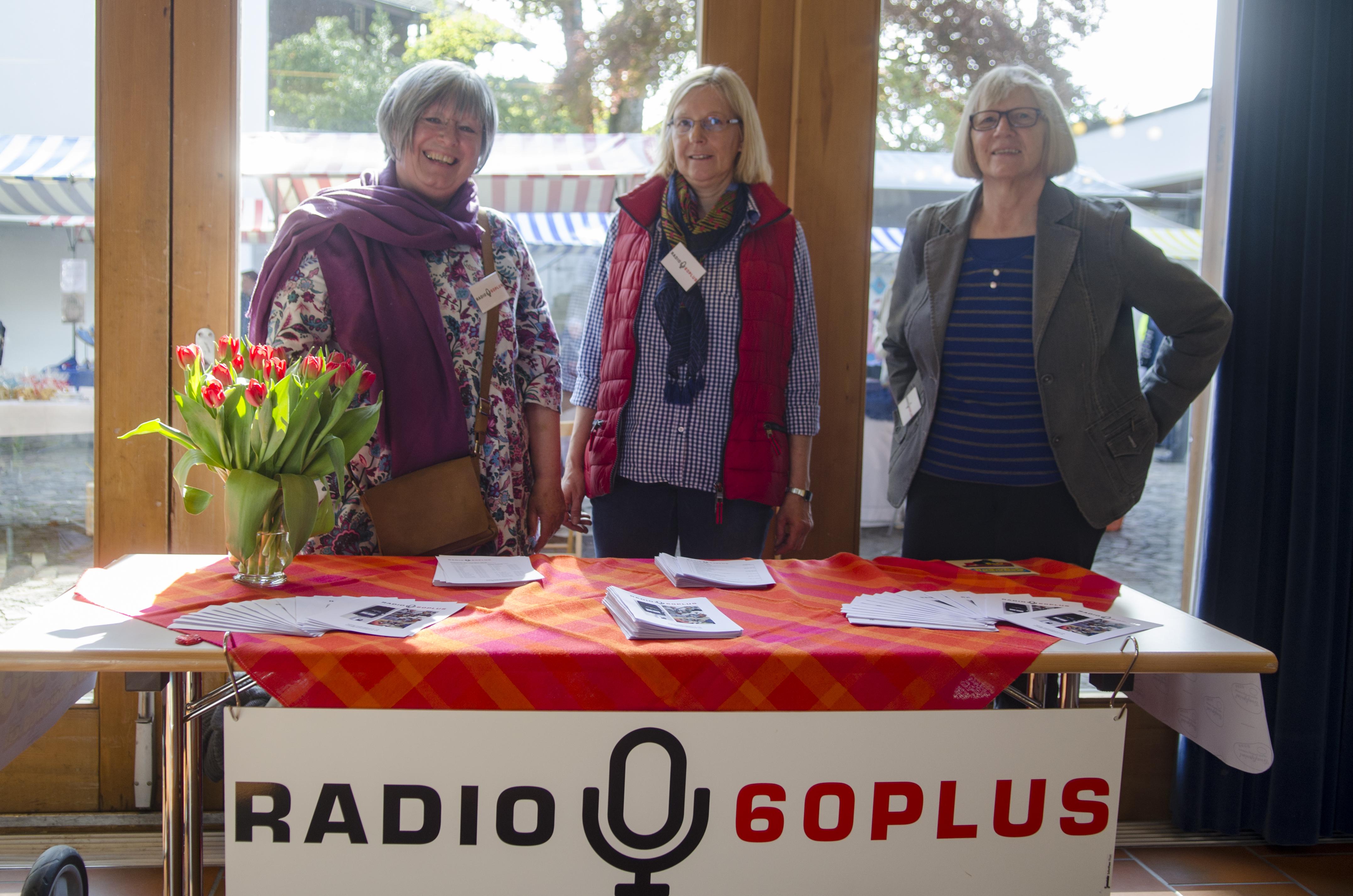 Margoth, Verena und Madlen von Radio 60Plus