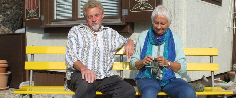 Fredy Frey und Ruth Frey. – Bild: zvg, Film «Falten»