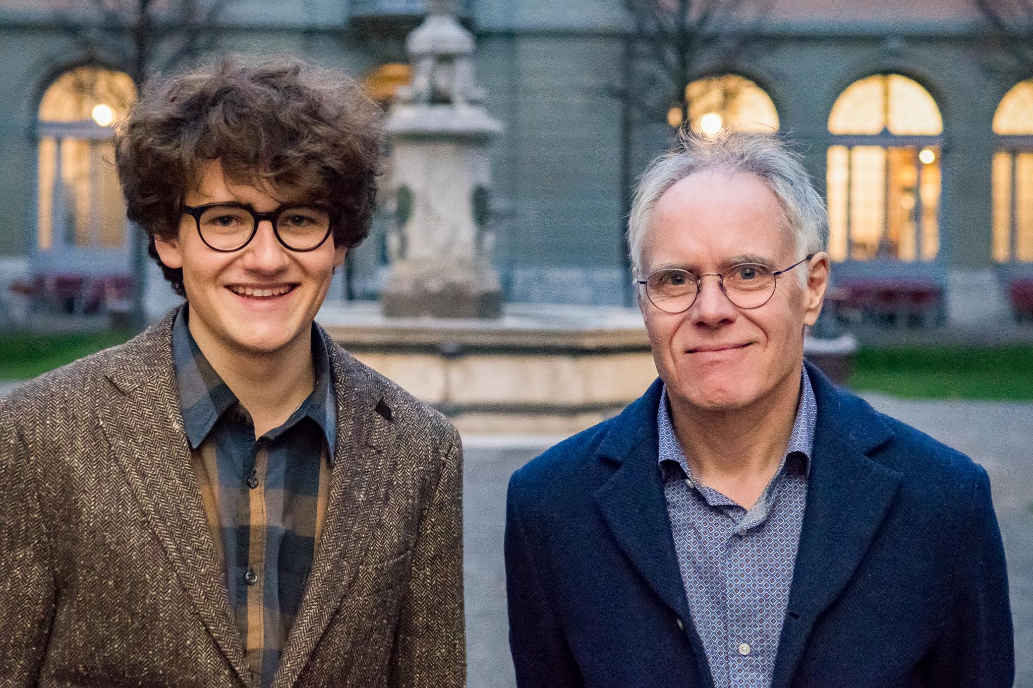 Frédéric Urech und Moritz Leuenberger waren im November im Generationentalk. – Bild: Manuel Meister