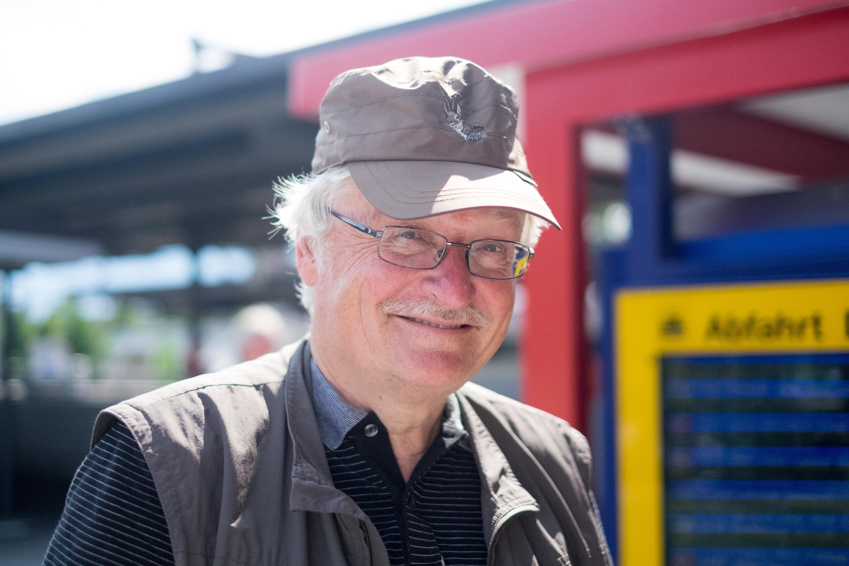 Einer der Reisenden: René Mathys. – Bild: Robin Glauser