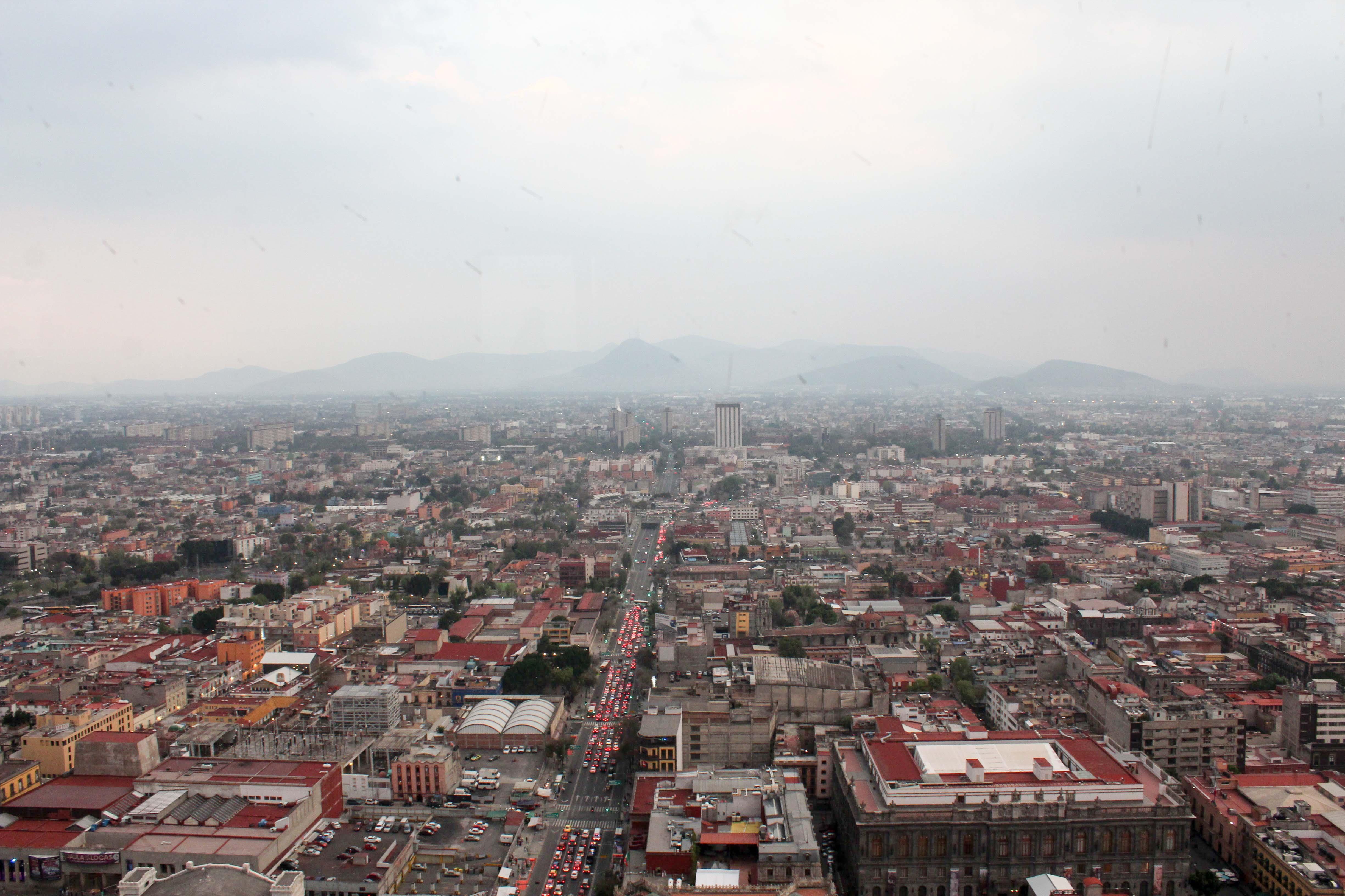 Sicht auf Mexico-City von der Torre Latinoamericana.