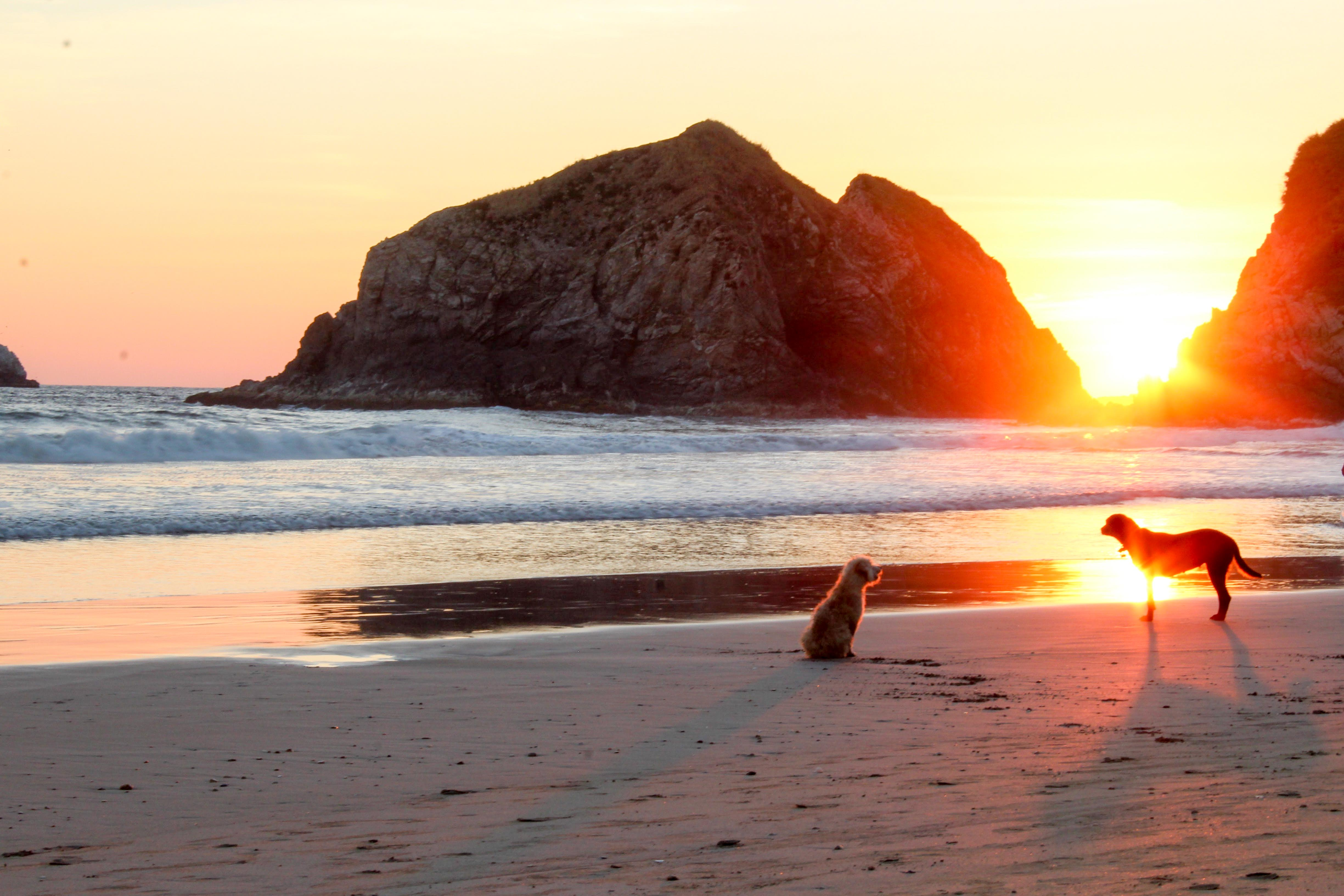 Sonnenuntergang in Zipolite, in der Nähe von Puerto Escondido.