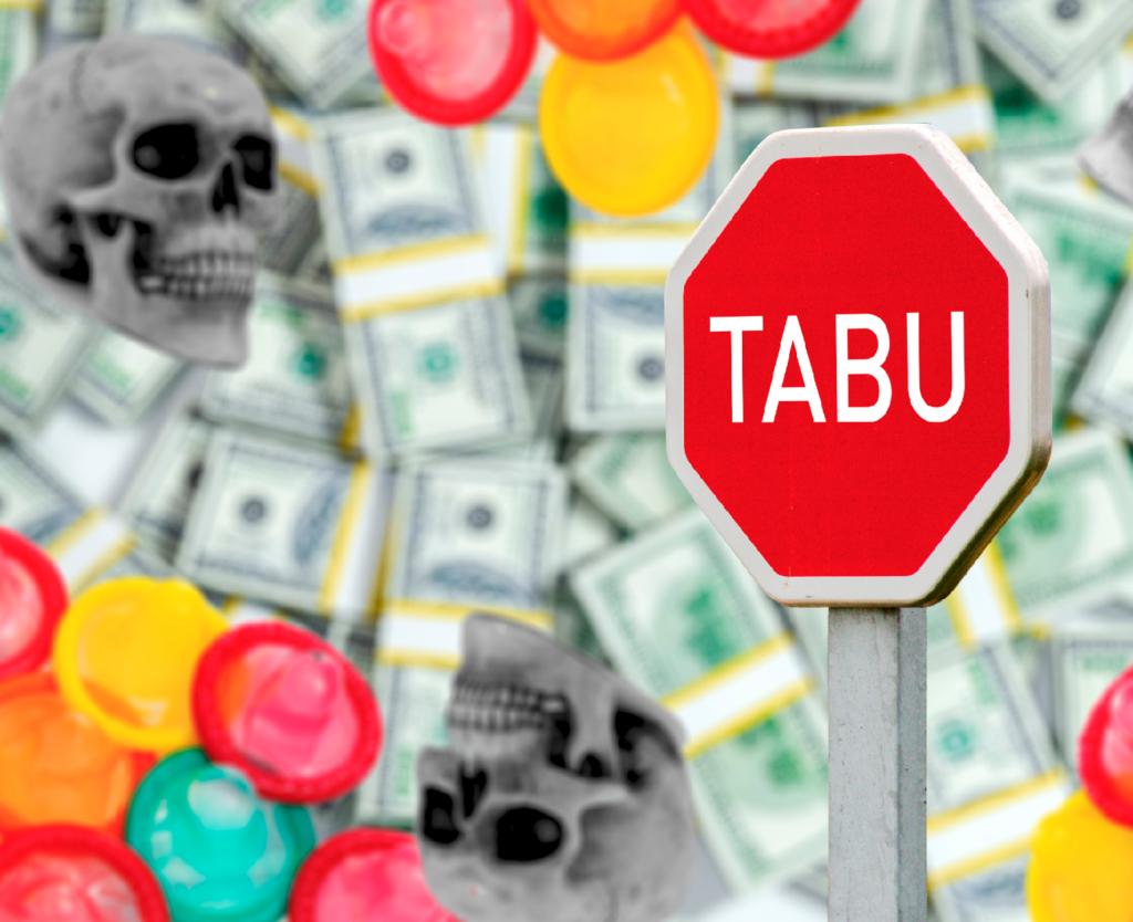 Geld, Sex und Tod – das sind oftmals Tabus. – Illustration: Manuel Meister