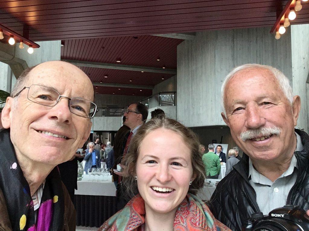 Ein Selfie am Anlass: Jürg Krebs, Livia Thurian und Walter Winkler.