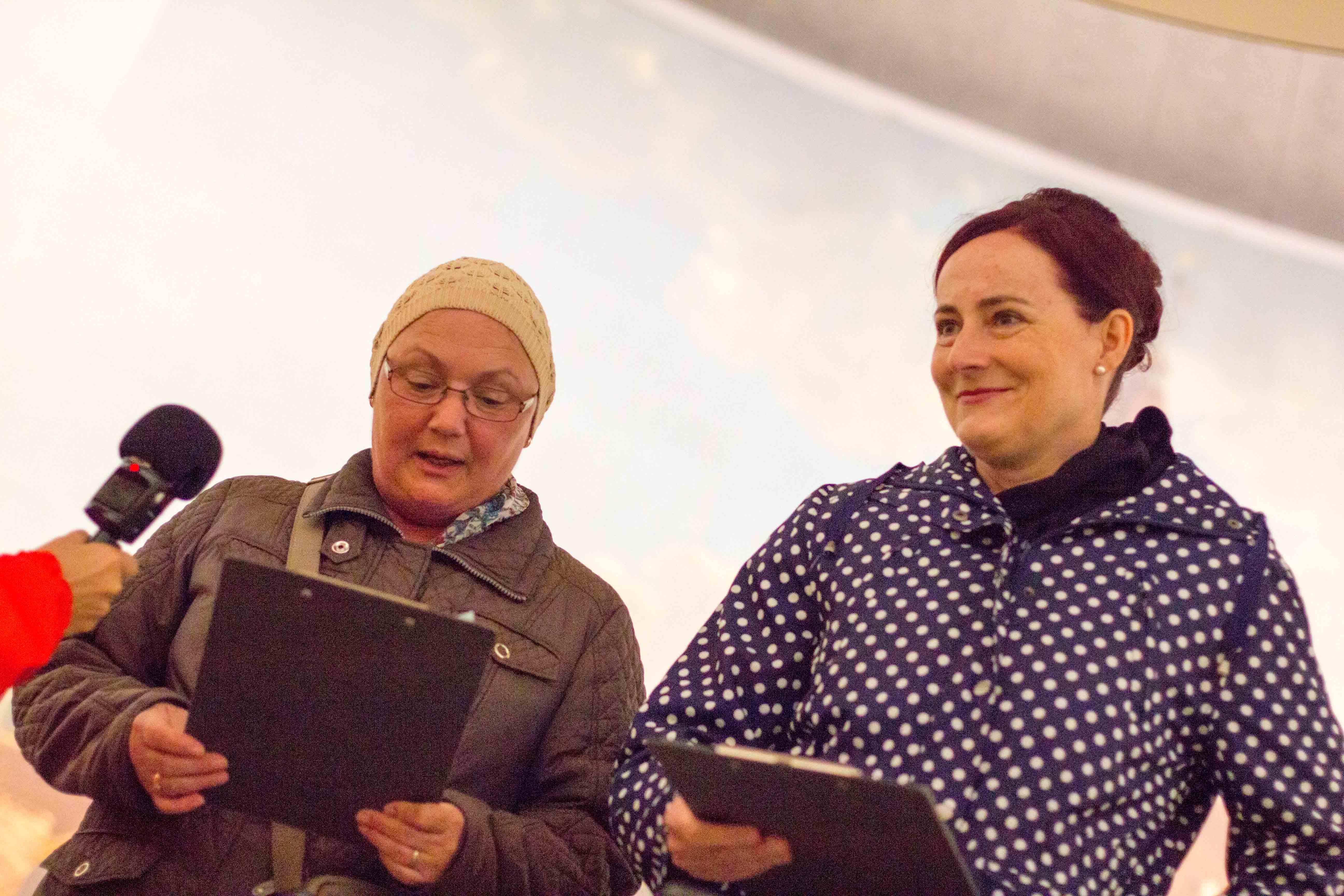 Brigitte Mathys und Franziska Müller stellen ihre Geschichte vor.