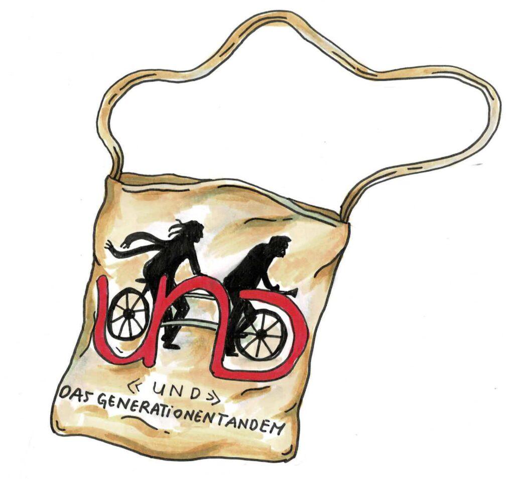 Eine trendige Stofftasche -Design: Jorina Scheidegger