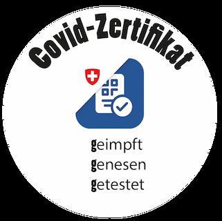 Covid-Zertikat Label